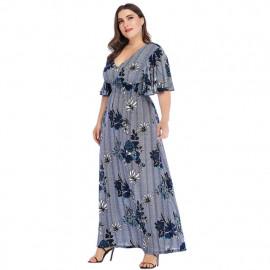 Женское платье с V-образным вырезом MN138