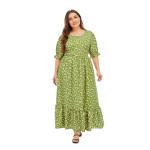Богемное пляжное платье в цветочек MN137