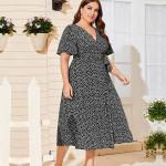Женское пляжное платье с запахом размера плюс MN136