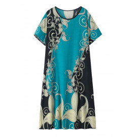Свободные длинное пляжное платье размера плюс MN135-1