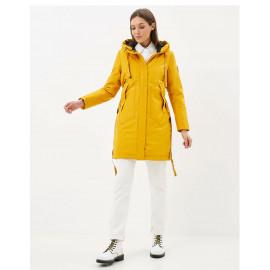 Куртка женская желтая длинная KD004