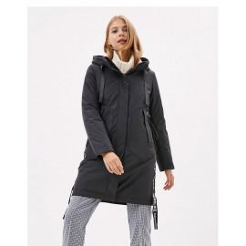 Молодежная длинная куртка женская KD004-4
