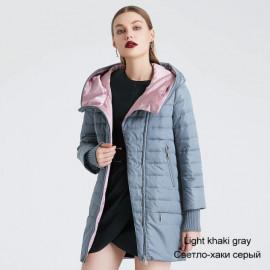 Куртка с капюшоном женская весна KD023