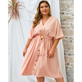 Повседневное платье размера плюс MN134