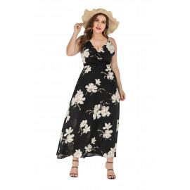 Женское пляжное платье без рукавов размера плюс MN133
