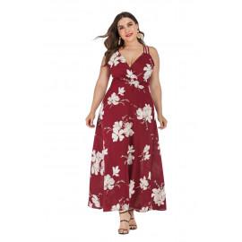 Летнее длинное платье с открытой спиной MN133-1