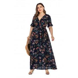 Женское пляжное платье с цветочным принтом MN131
