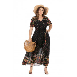 Бохо платье больших размеров для женщин MN129