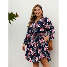 Летнее короткое платье больших размеров MN127