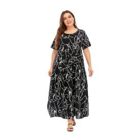 Летнее платье больших размеров MN126