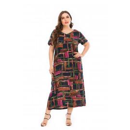 Летнее платье больших размеров MN125