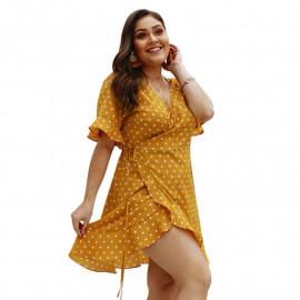 Летнее платье больших размеров MN124-1