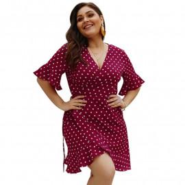 Летнее платье больших размеров MN124-2