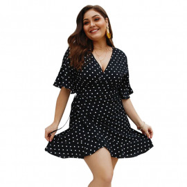 Летнее платье больших размеров MN124