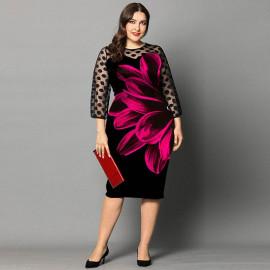 Вечернее платье на полную фигуру MN122