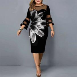 Вечернее платье на полную фигуру MN121-2