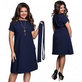 Темно-синее платье для женщин MN119-1