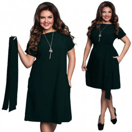 Темно-зеленое платье для женщин MN119