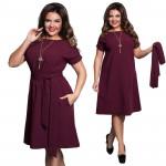 Бордовое платье для женщин MN119-2