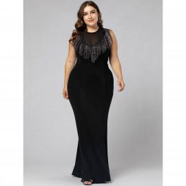 Вечернее платье в пол размера плюс MN118