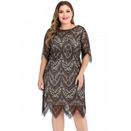 Вечернее кружевное платье размера плюс MN115