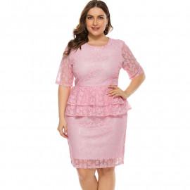Розовое кружевное платье для женщин MN111-1