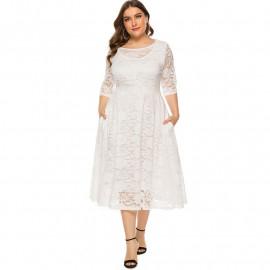 Женское вечернее кружевное платье MN110