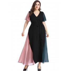 Элегантное шифоновое платье большого размера MN108