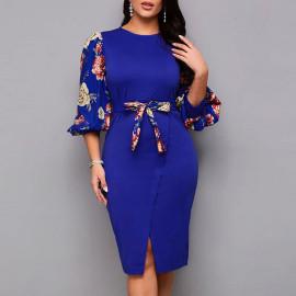 Женское облегающее платье больших размеров MN106