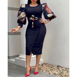 Женское облегающее черное платье больших размеров MN106-1
