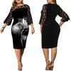 Вечернее платье на полную фигуру MN006, цвет черный, размер 52 - 64