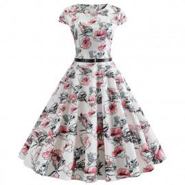 Летнее платье в стиле ретро MN41-3