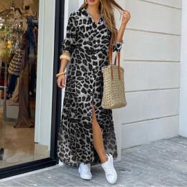 Рубашка-платье леопардовый принт MN96-5