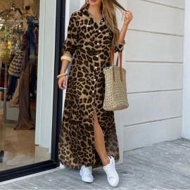 Платье-рубашка с леопардовым принтом MN96-3
