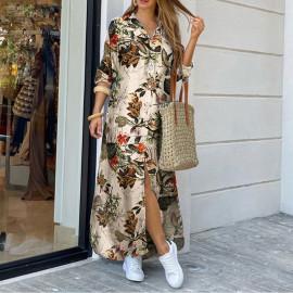 Длинное платье-рубашка из хлопка MN96-1