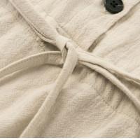 Бежевое платье-рубашка короткое MN86