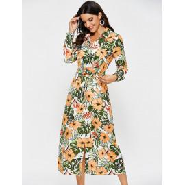 Рубашка платье в цветочек MN83