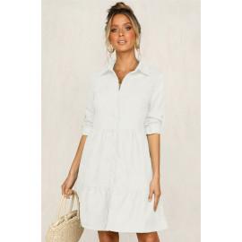 Платье-рубашка белого цвета MN81-2