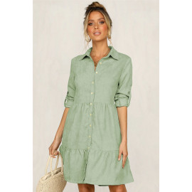 Платье-рубашка зеленого цвета MN81-3