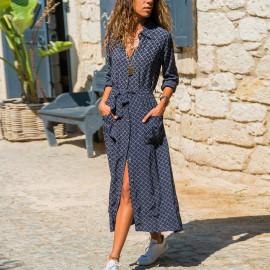 Летнее платье-рубашка длинное MN79-1