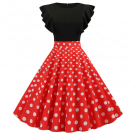 Платье с рюшами в стиле винтаж MN63-4