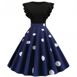 Платье с рюшами в стиле Стиляги MN63-3