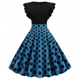 Платье с рюшами в стиле ретро MN63-1