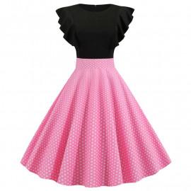 Винтажное платье с рюшами MN63-2