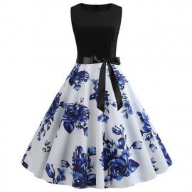 Платье приталенное с расклешенной юбкой летнее MN61-20