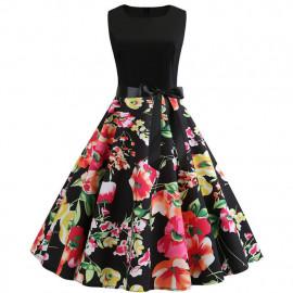 Женское платье с цветочным принтом MN61-22
