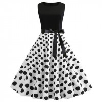 Платье в горошек в стиле Стиляги MN61-24