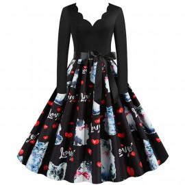 Женское винтажное платье MN009-25