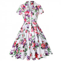 Винтажное платье с цветочным принтом MN56-6