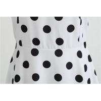 Белое гороховое платье MN64